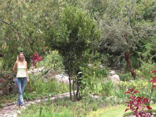 Jen enjoying the gardens