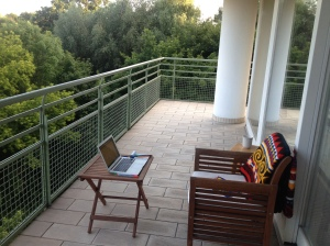 my 'office' in Warsaw.
